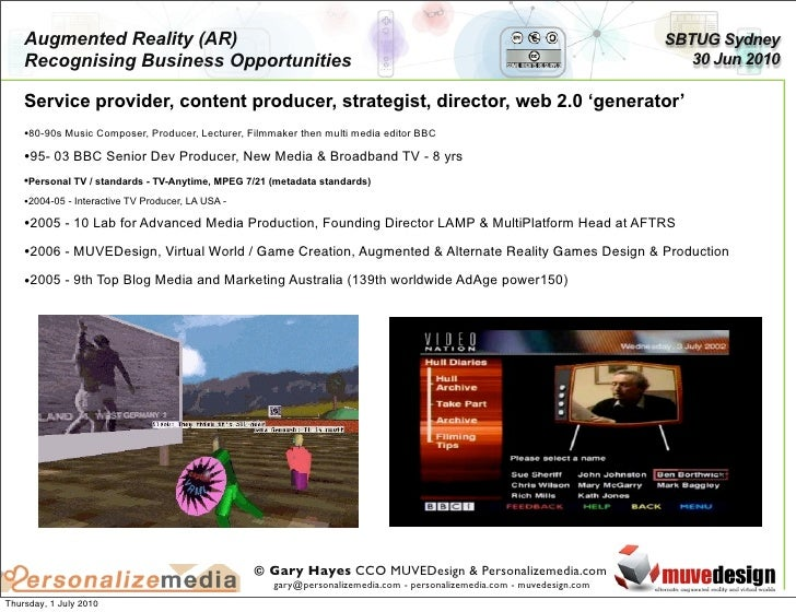 Recognising Augmented Reality Business Opportunities Slide 2