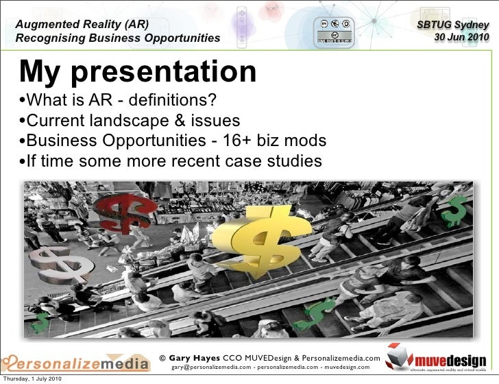 Recognising Augmented Reality Business Opportunities Slide 3