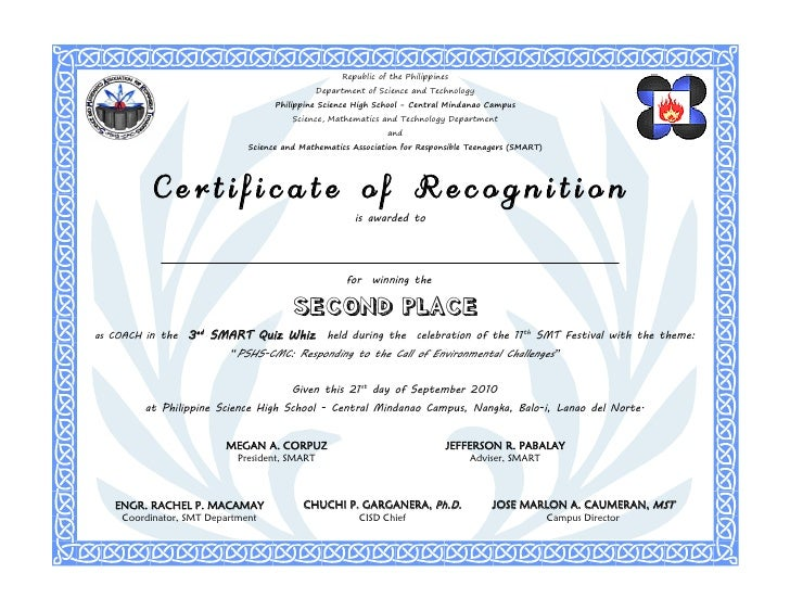 Recognition coach 2nd place republic of the philippines yadclub Images