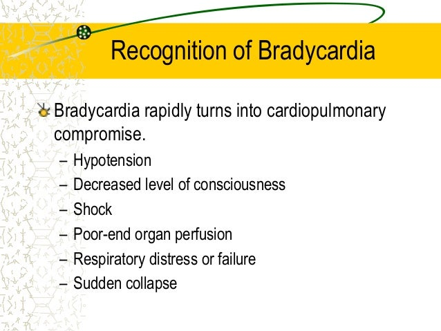 Recognition Management Of Bradycardia Pediatrics Ag