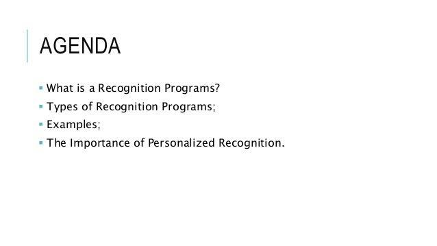 Recognition programs Slide 2