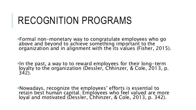 Recognition programs Slide 3