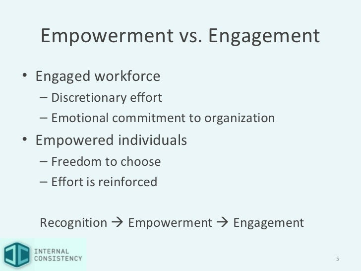 Commitment Vs Involvement: Recognition That Fuels Empowerment By @I_Consistency
