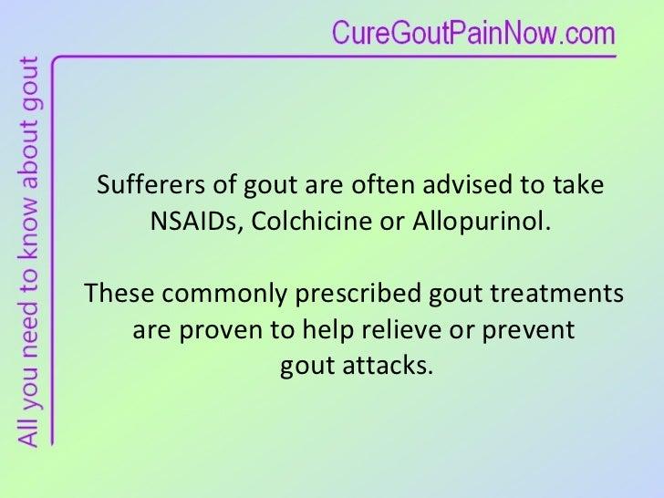 Recognize Gout Medication Side Effects Slide 3