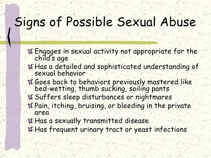mm sexually aggressive behavior symptoms.