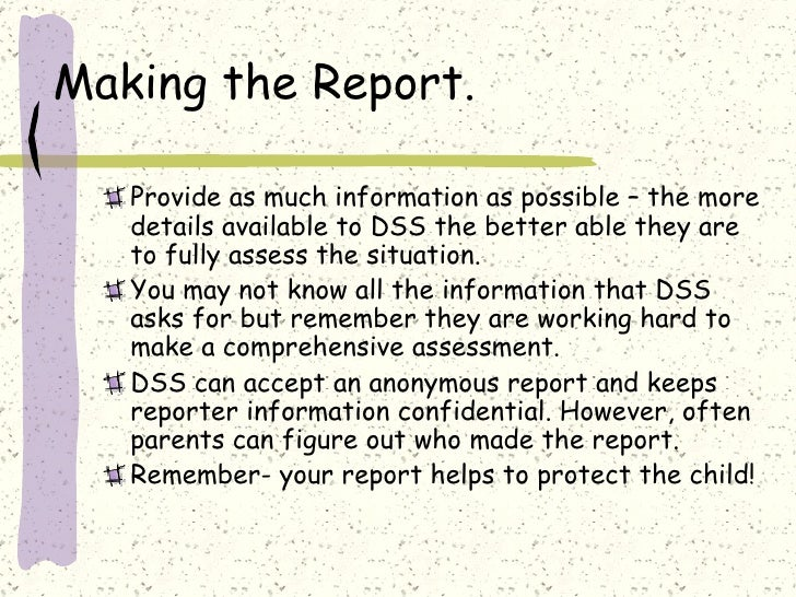 child abuse report Reports are taken 24 hours a day, 7 days a week by calling 1-855-gachild / 1-855-422-4453.