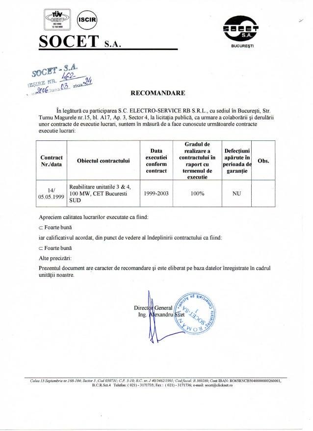 Recomandari Electro-service RB