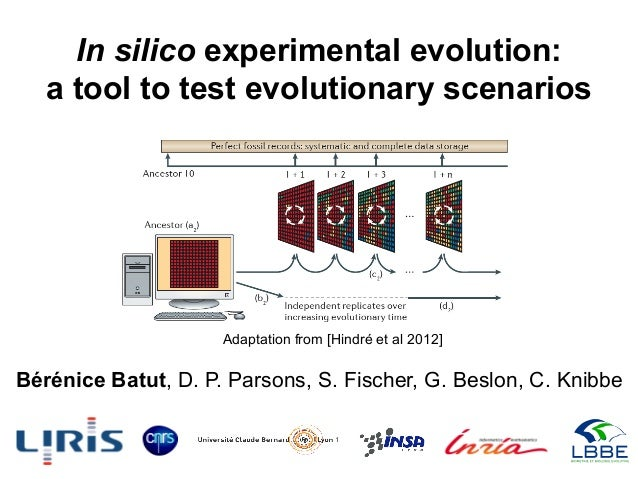 In silico experimental evolution: a tool to test evolutionary scenarios Bérénice Batut, D. P. Parsons, S. Fischer, G. Besl...
