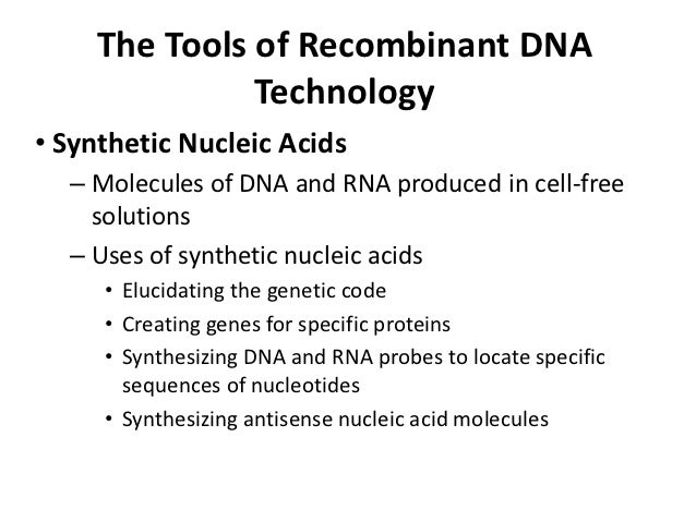 what is recombinant dna technology pdf