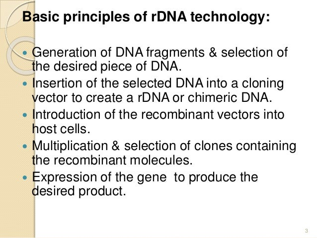 Recombinant dna research papers