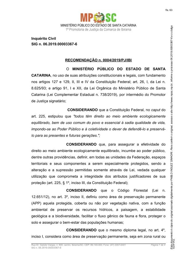 fls. 63 Estedocumento�c�piadooriginalassinadodigitalmenteporPABLOINGLEZSINHORI.Paraconferirooriginal,acesseositehttp://www...