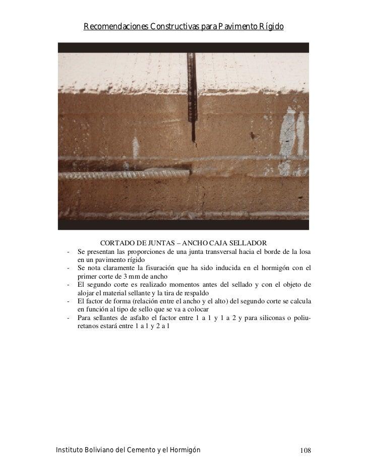 Recomendaciones Constructivas para Pavimento Rígido                                                                       ...