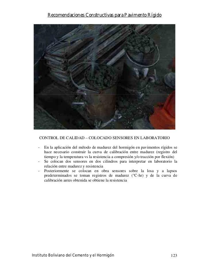 Recomendaciones Constructivas para Pavimento Rígido        CONTROL DE CALIDAD – COLOCADO SENSORES EN LABORATORIO     -   E...