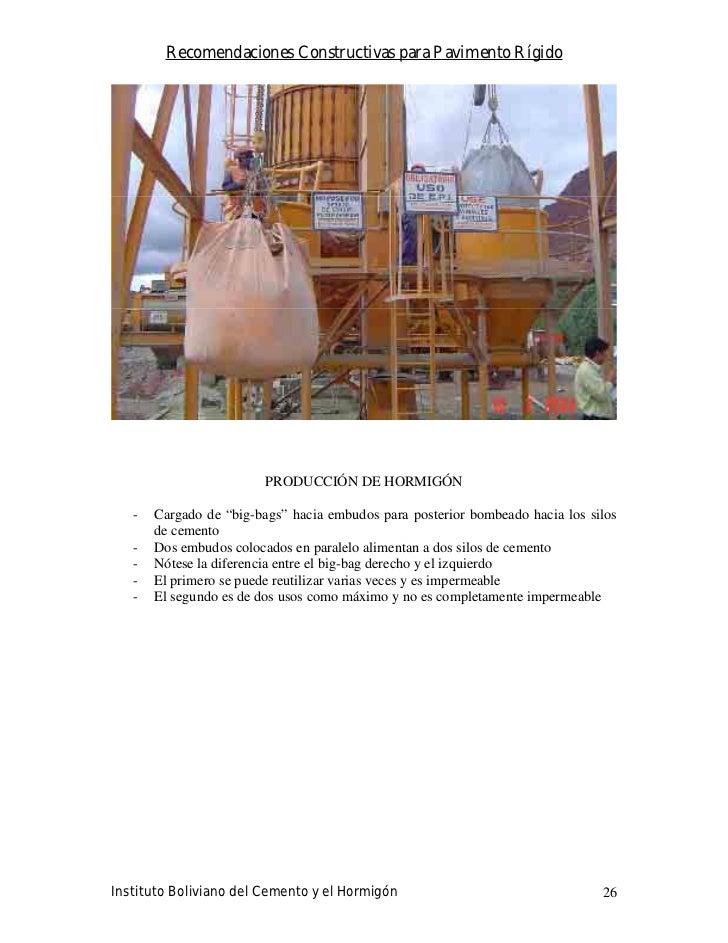 Recomendaciones Constructivas para Pavimento Rígido                              PRODUCCIÓN DE HORMIGÓN     -   Cargado de...