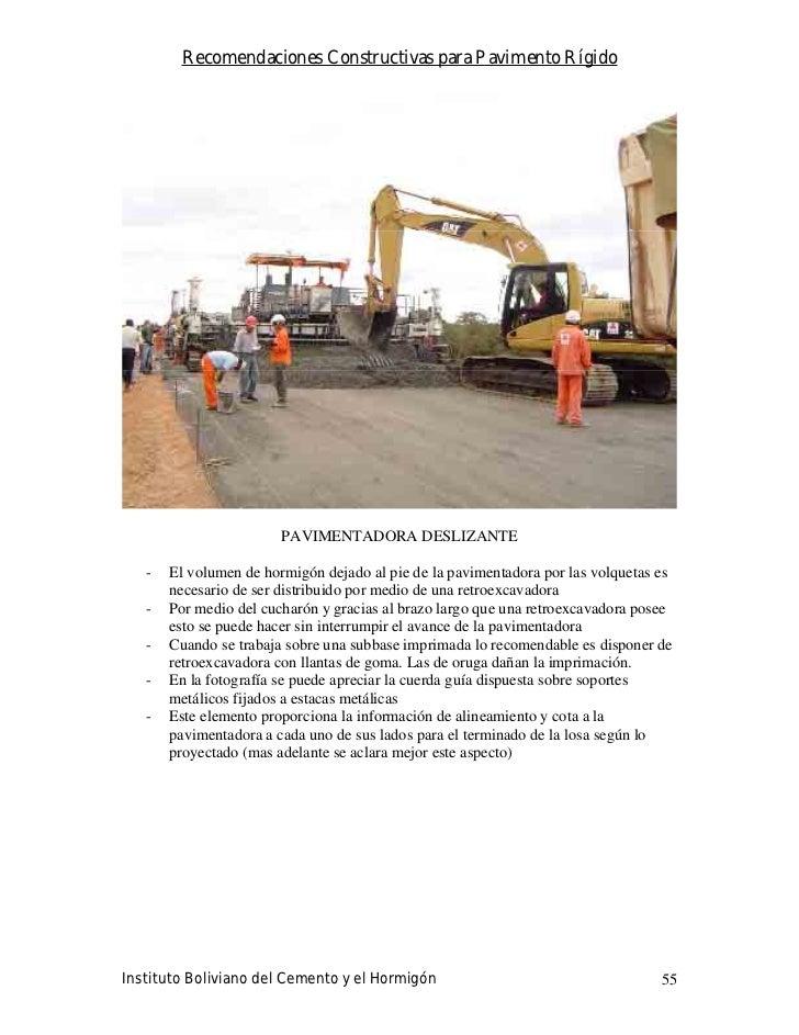 Recomendaciones Constructivas para Pavimento Rígido                             PAVIMENTADORA DESLIZANTE     -   El volume...