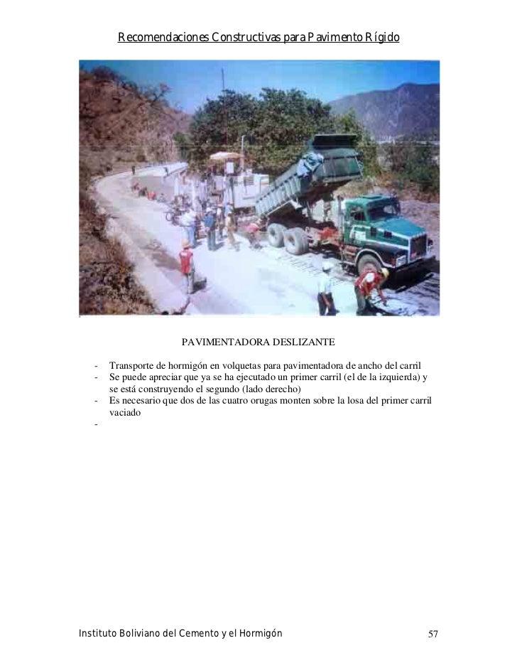 Recomendaciones Constructivas para Pavimento Rígido                              PAVIMENTADORA DESLIZANTE     -   Transpor...
