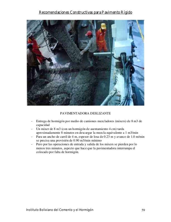 Recomendaciones Constructivas para Pavimento Rígido                             PAVIMENTADORA DESLIZANTE     -   Entrega d...