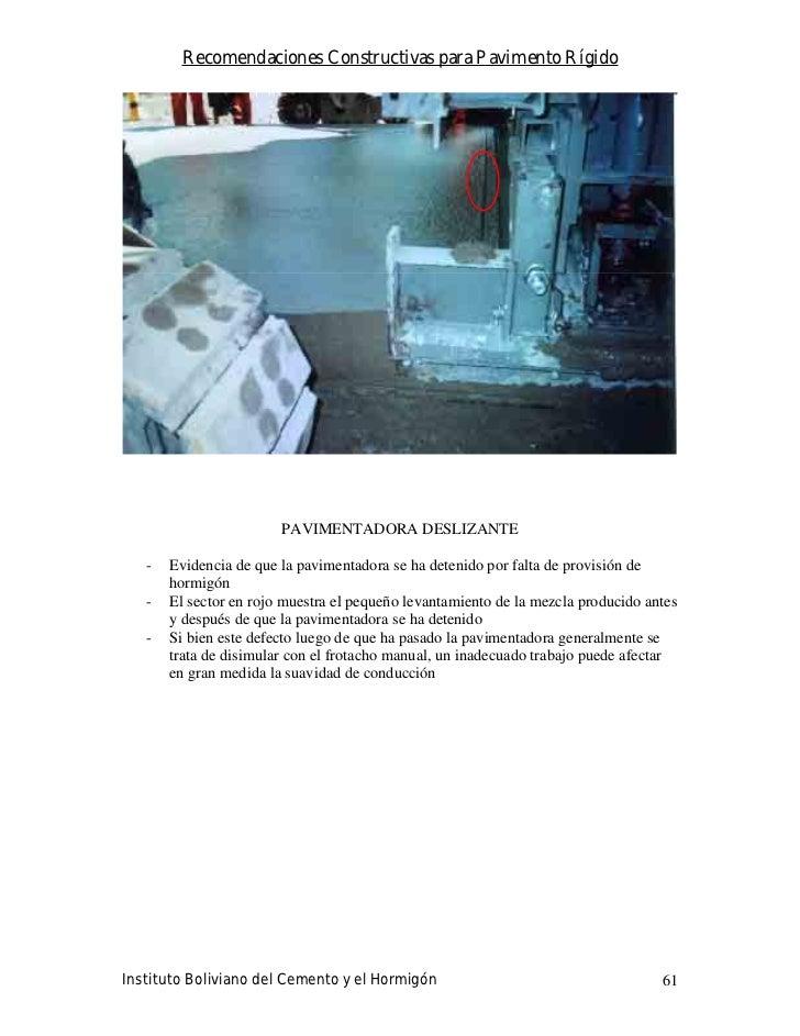 Recomendaciones Constructivas para Pavimento Rígido                             PAVIMENTADORA DESLIZANTE     -   Evidencia...