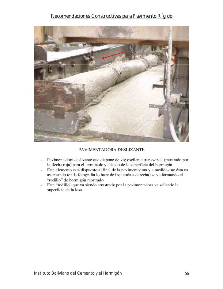 Recomendaciones Constructivas para Pavimento Rígido                             PAVIMENTADORA DESLIZANTE     -   Pavimenta...