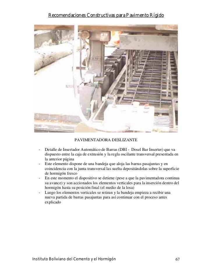 Recomendaciones Constructivas para Pavimento Rígido                              PAVIMENTADORA DESLIZANTE     -   Detalle ...