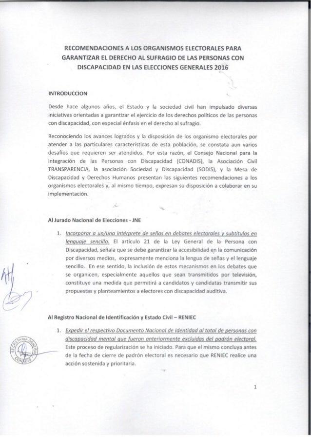 """l;   """"sx __—r     RECOMENDACIONES A LOS ORGANISMOS ELECTORALES PARA GARANTIZAR EL DERECHO AL SUFRAGIO DE LAS PERSONAS CON ..."""