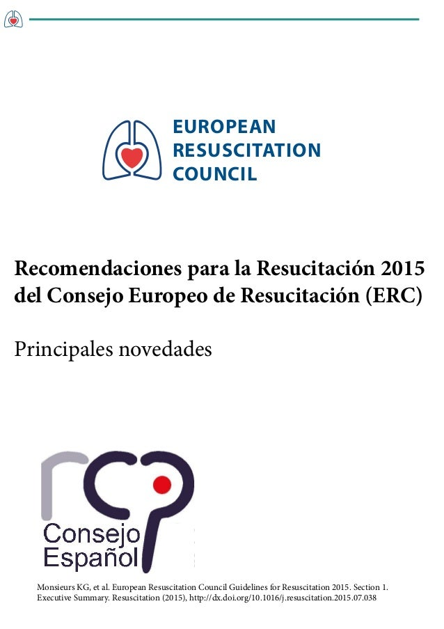 EUROPEAN RESUSCITATION COUNCIL Monsieurs KG, et al. European Resuscitation Council Guidelines for Resuscitation 2015. Sect...