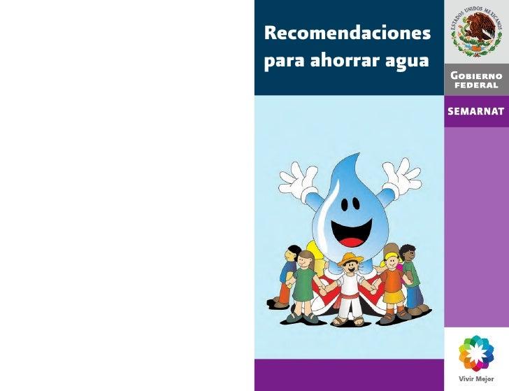 recomendaciones para ahorrar agua