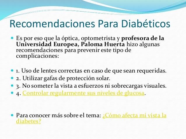 Recomendaciones para diabéticos