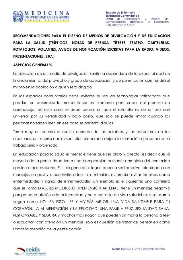 Escuela de Enfermería                                                    Enfermería Comunitaria II                        ...