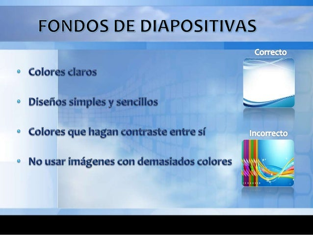 Recomendaciones para el dise o de diapositivas for Diseno de diapositivas