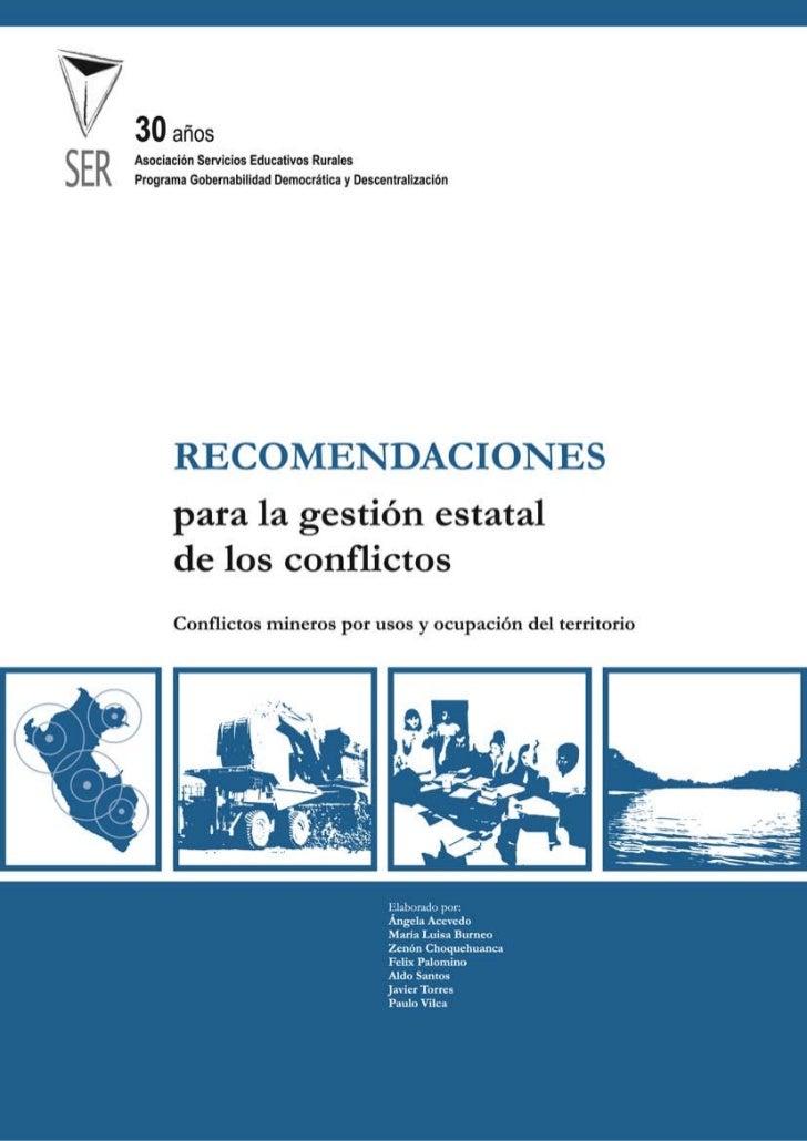 INTRODUCCIÓN                             Desde hace varios años, la conflictividad social en el Perú viene en aumento. De ...