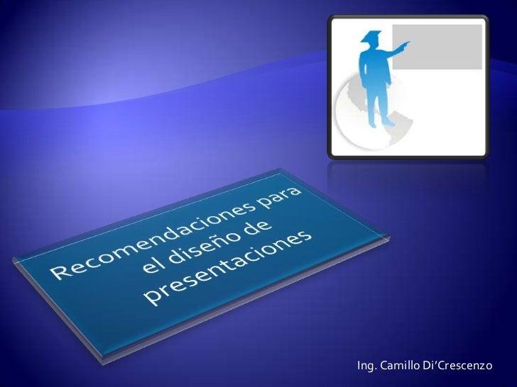 recomendaciones para realizar presentaciones efectivas
