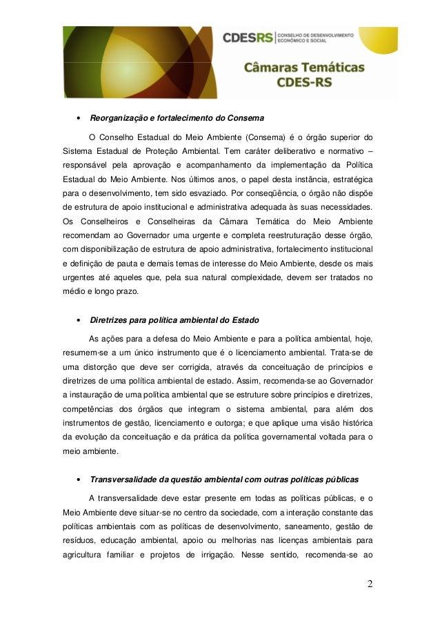 Recomendacoes camara tecnica ambiental Slide 2