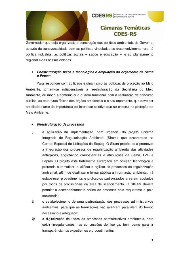 Recomendacoes camara tecnica ambiental Slide 3
