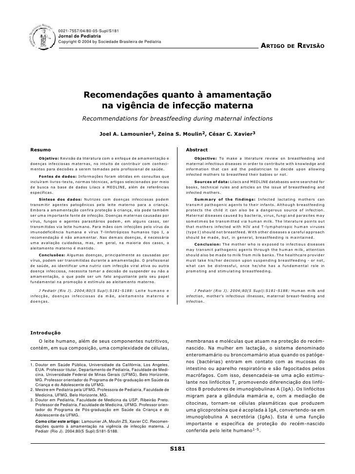0021-7557/04/80-05-Supl/S181              Jornal de Pediatria              Copyright © 2004 by Sociedade Brasileira de Ped...
