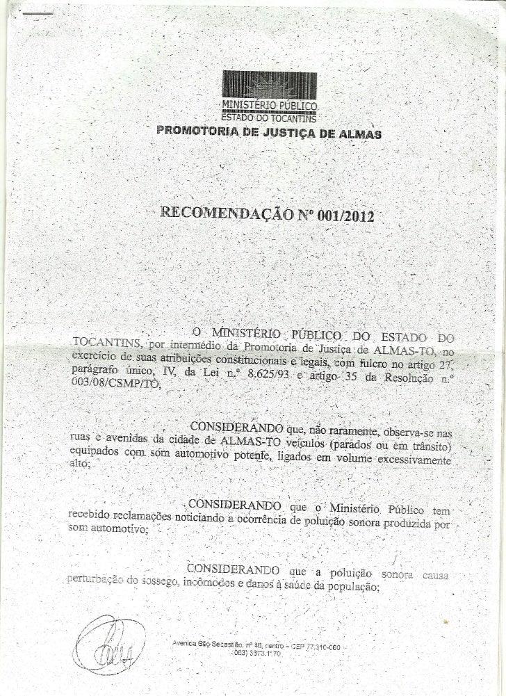 Recomendação 001 2012 som automotivo (1)