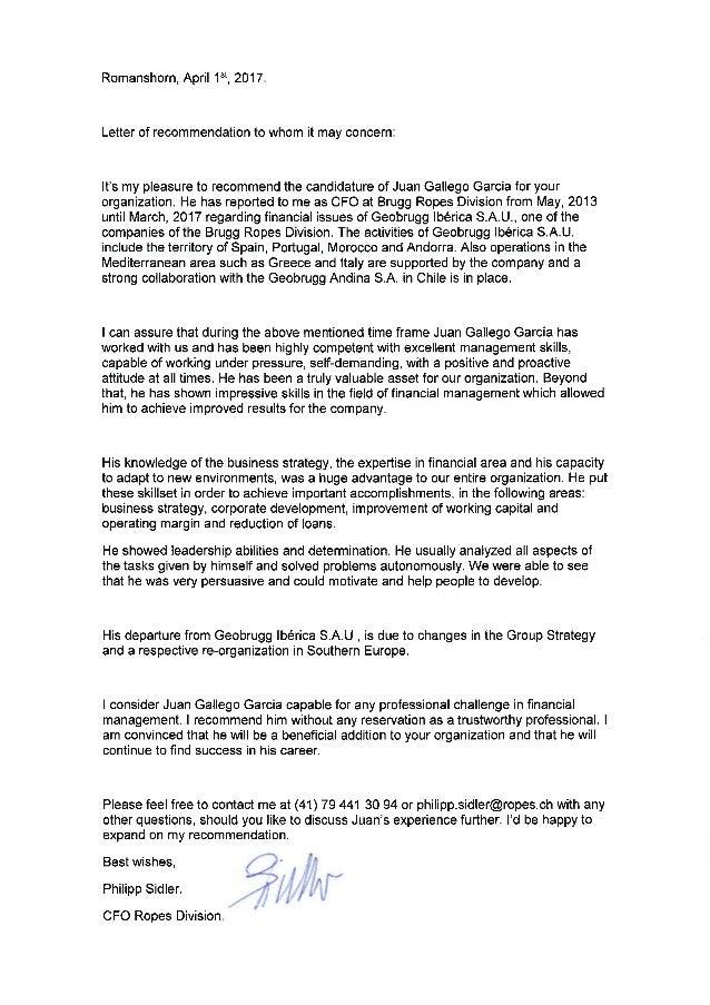CFO Rope Division 2017  Recommendation letter