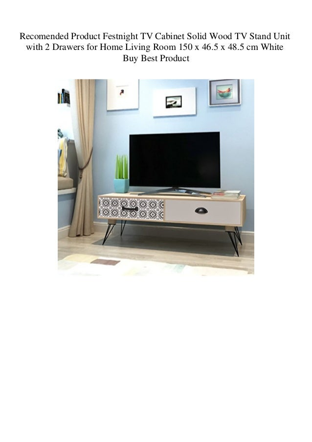 Recomended Product Festnight Tv Cabinet Solid Wood Tv Stand Unit With