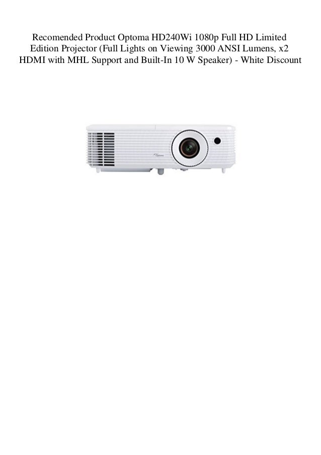 Recomended Product Optoma HD240Wi 1080p Full HD Limited Edition Proj…