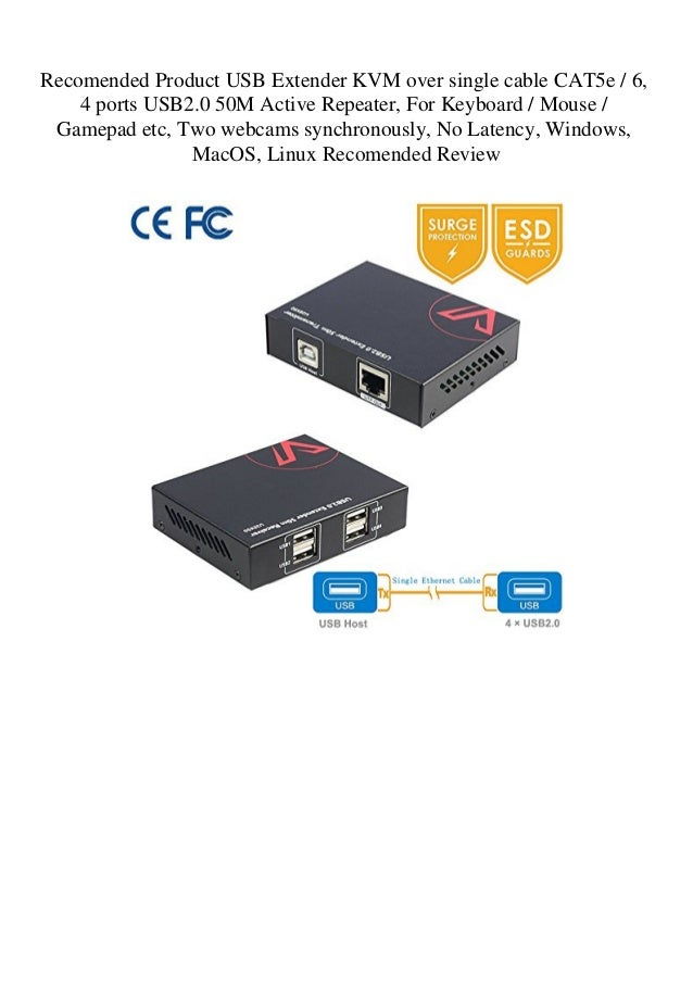 Recomended Product USB Extender KVM over single cable CAT5e
