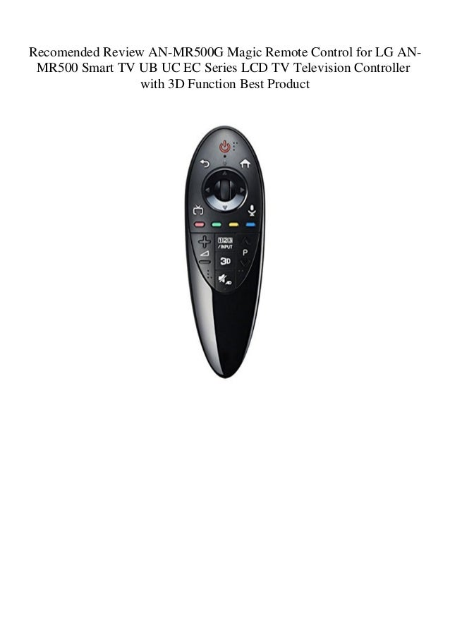 Recomended Review AN-MR500G Magic Remote Control for LG AN