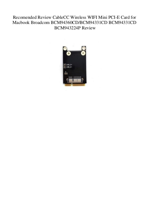 Recomended Review CableCC Wireless WIFI Mini PCI-E Card for Macbook B…