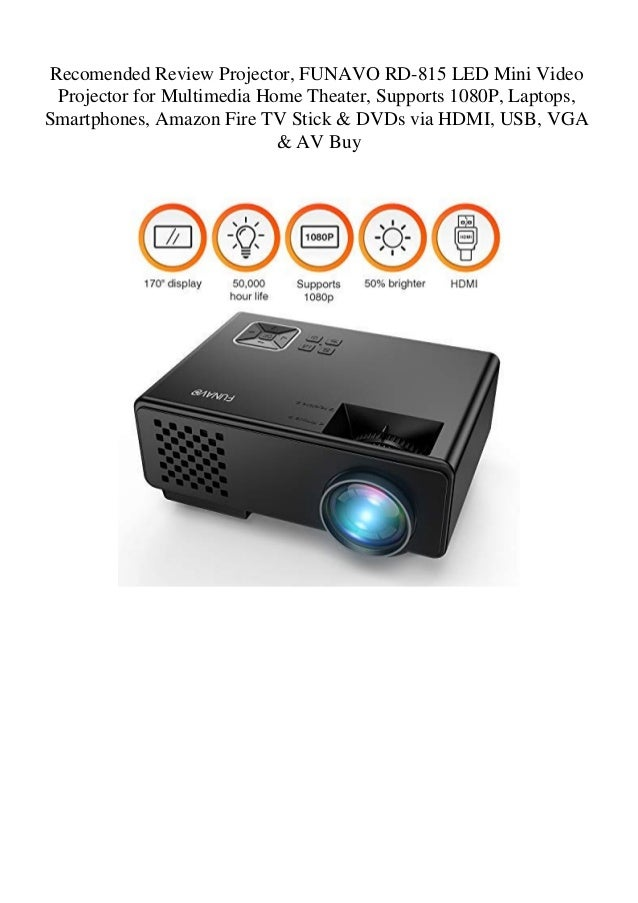 Recomended Review Projector FUNAVO RD-815 LED Mini Video