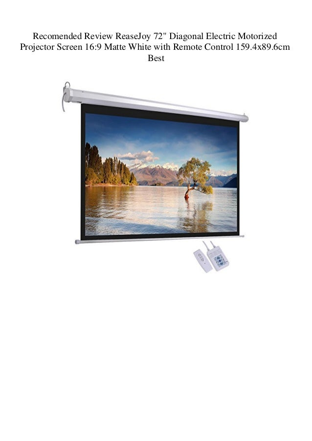 72 electric projector screen Matt white 16:9
