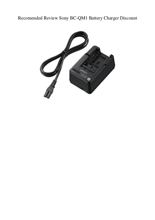 e6cc3df8623 Recomended Review Sony BC-QM1 Battery Charger Discount