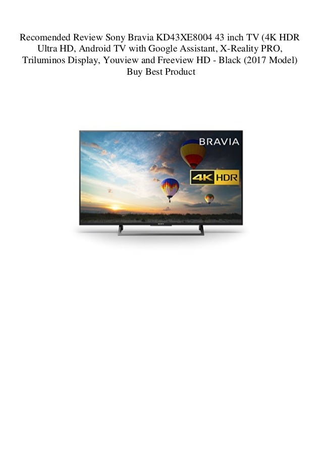 Recomended Review Sony Bravia KD43XE8004 43 inch TV (4K HDR