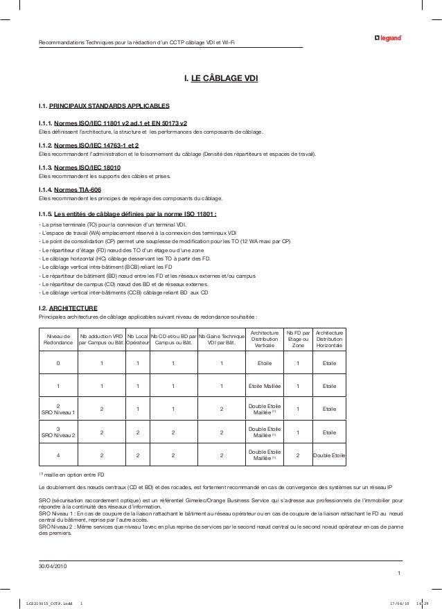 Recommandations Techniques pour la rédaction d'un CCTP câblage VDI et Wi-Fi                                               ...