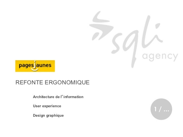 REFONTE ERGONOMIQUE    Architecture de l'information    User experience                                    1/…    Design g...