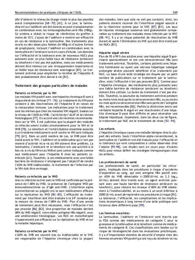 Recommandations de pratiques cliniques de l'EASL                                                                          ...