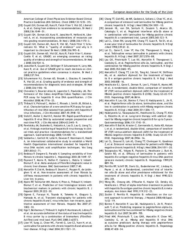 Recommandations 'easl b 2009-gcb